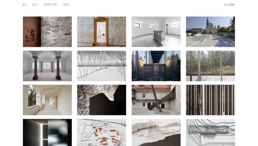 Architecture company profile area (Mediar Agency)