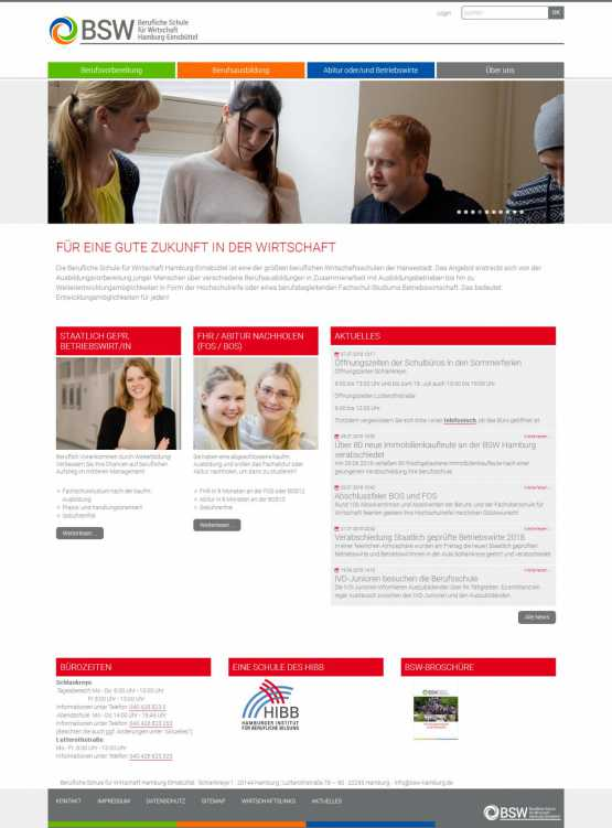 Custom development system for schule fur wirtschaft hamburg