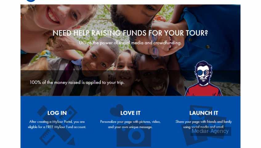 Fundraising touristic tours (Mediar Agency)