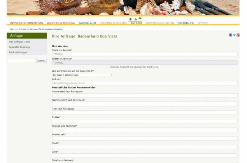 Ordering system for kapverdischen inseln
