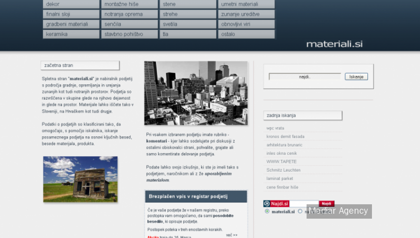 Project materiali (Mediar Agency)
